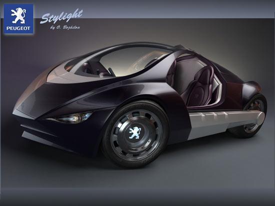 peugeot stylight looks like a sporty batmobile - nerdbeach