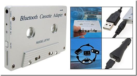 bluetooth cassette adapter fits in a tape