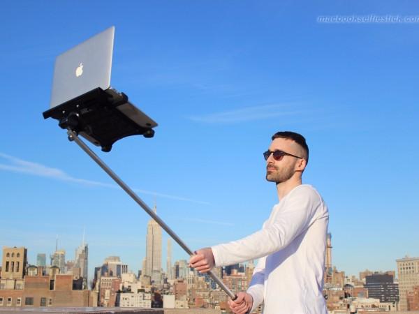 and now the macbook selfie stick nerdbeach. Black Bedroom Furniture Sets. Home Design Ideas