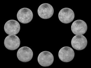 24 hours of Pluto's moon, Charon (courtesy NASA)