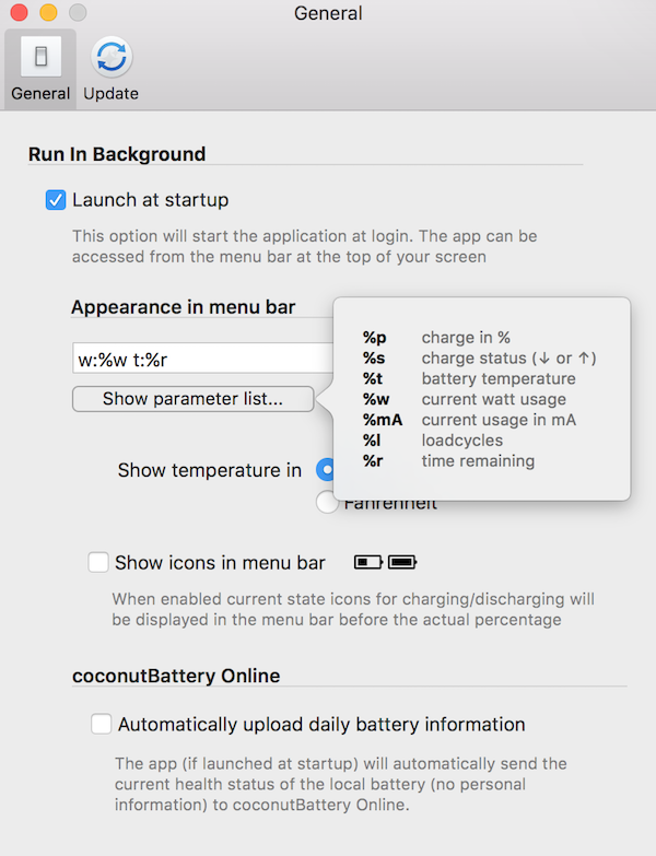 coconutBattery MacBook Power Monitor