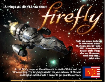 Eighteen Things You Didn't Know About Firefly (Infographic)