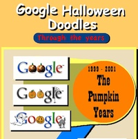 Google Halloween Doodles Through The Years (InfoGraphic)