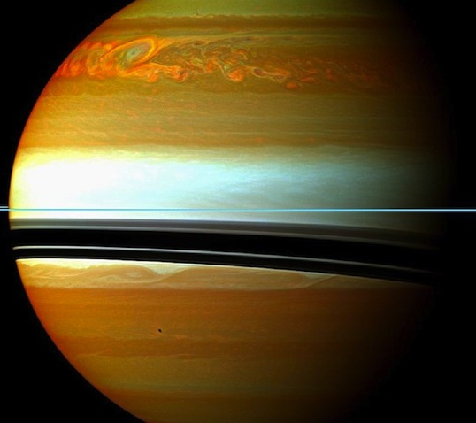 Cassini Catches Saturn Monster Storm In The Act