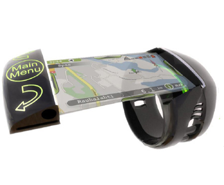 Seek is a sleek wrist mounted GPS with pullout screen