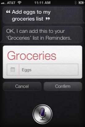 Use Siri to Create a Shopping List