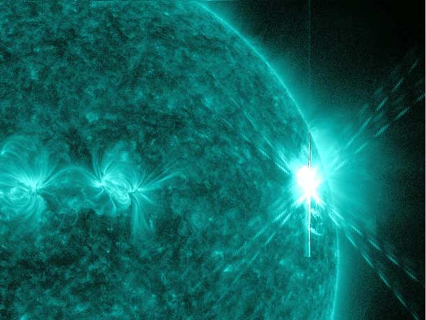 Ultraviolet View of a Solar Flare