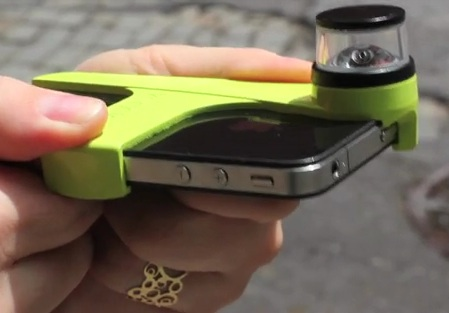 Take Live 360 Degree Video With Your iPhone 4 Using Dot