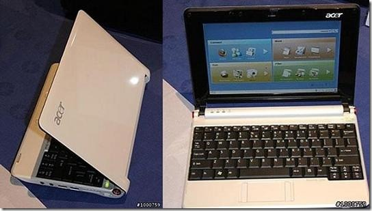 Acer Aspire One Joins Sub Notebook Category