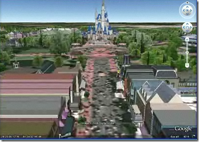 Google Earth Now Home to 3D Disney World