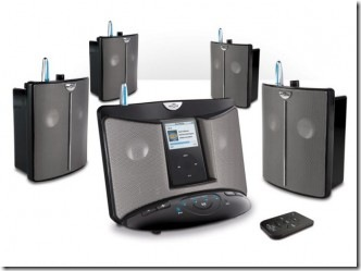EOS Wireless Speaker System Designed for iPods