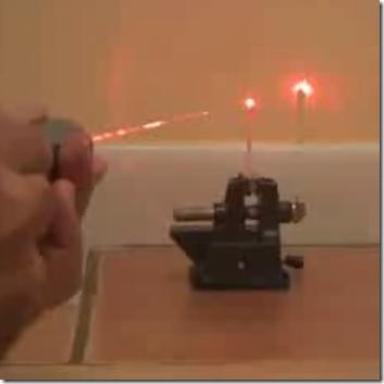 DIY Flashlight Made into Burning Laser