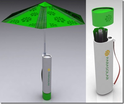 Parasolar Umbrella Charges and Protects