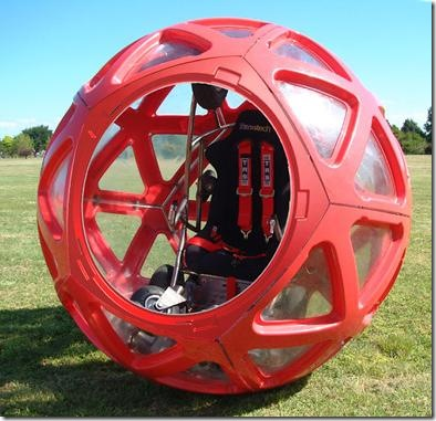 BuzzBall is a Powered Hamster Ball For People