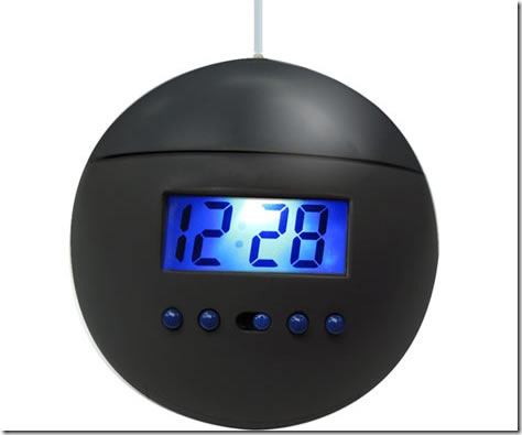 Hanging Alarm Clock Climbs Farther Away With Each Snooze