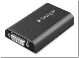 Kensington Dual Display Adapter Adds Monitor Hookup at USB Port