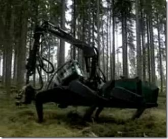 Six Legged Logger Proves Legs are Better Than Wheels at Times