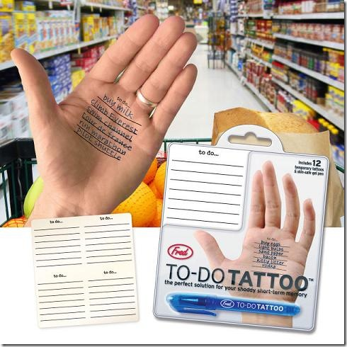 The To-Do Tattoo – Wearable Paper PDA Concept?