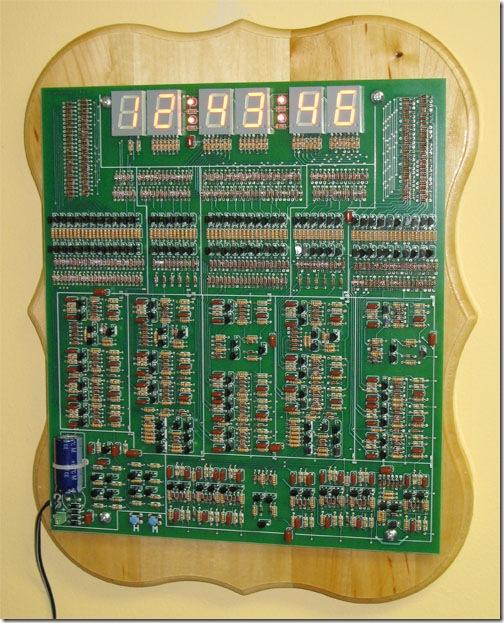 All Transistor Digital Clock Project, No ICs Allowed