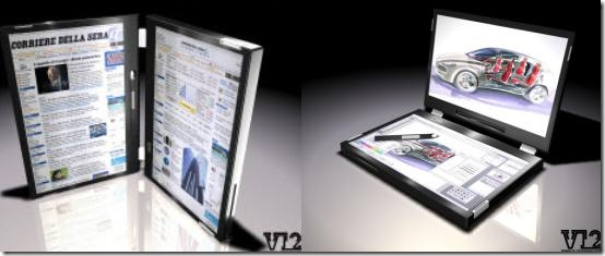 V12 Dual Screen Laptop Seems Natural for the Book Lover
