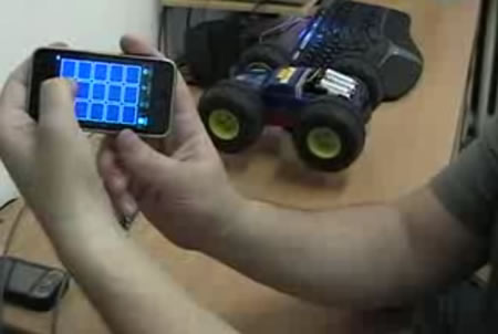 iPhone control of RC car
