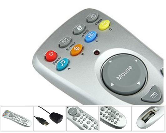 TV Remote with integrated mouse makes media PC control simple