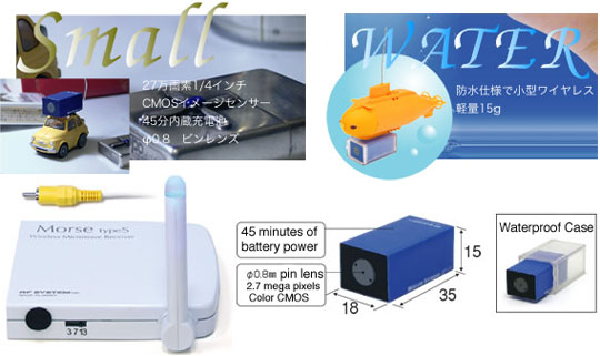 Waterproof RC12 Mini Wireless Video Camera