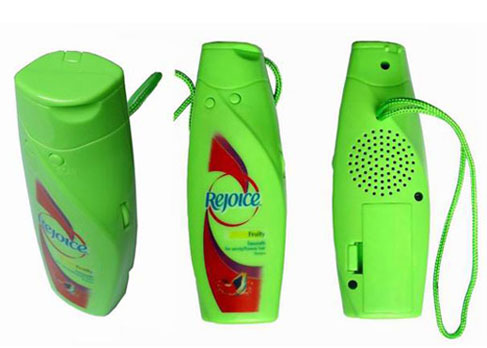 Shampoo Bottle MP3 Player for Shower Tunes