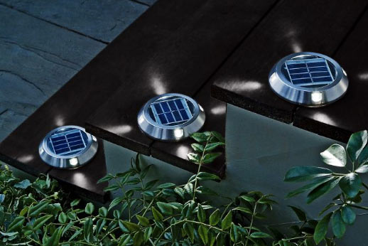 Four Way Low Rise Solar Deck Lights Makes Lighting Simple