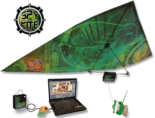 Spy Kite is a fun digital camera equipped kite