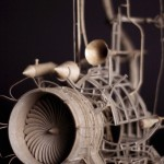 Cardboard Fueled Imagination Creates Flying Machine Art